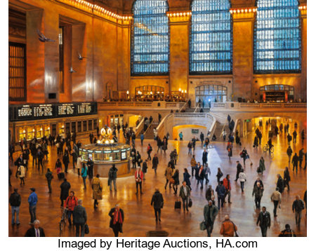 Bruce Braithwaite (American/British, b. 1950) On Time - Grand Central Terminal, 2012 Oil on canvas 32 x 40 inches (81...