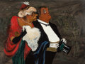 Fine Art - Painting, American:Contemporary   (1950 to present)  , William Gropper (American, 1897-1977). Opening Night. Oil onMasonite. 12-1/2 x 16 inches (31.8 x 40.6 cm). Signed lower...