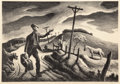 Fine Art - Work on Paper:Print, Thomas Hart Benton (American, 1889-1975). The Boy, 1948.Lithograph on paper. 9-1/2 x 13-3/4 inches (24.1 x 34.9 cm) (im...