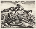 Fine Art - Work on Paper:Print, Thomas Hart Benton (American, 1889-1975). The Planting,1939. Lithograph on paper. 9-7/8 x 12-5/8 inches (25.1 x 32.1 cm...