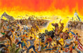 Fine Art - Painting, American:Contemporary   (1950 to present)  , Mort Künstler (American, b. 1931). The Battle of AnacostiaFlats, 1961. Mixed media on board. 14-3/4 x 23 inches (37.5x...