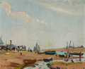 Fine Art - Painting, American:Modern  (1900 1949)  , Hayley Lever (American, 1876-1958). Tide Out on the River Exe near Exmouth, Devon, England, 1904. Oil on canvas. 10 x 12...