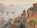 Fine Art - Work on Paper:Watercolor, Gunnar Mauritz Widforss (Swedish/American, 1879-1934). The GrandCanyon. Watercolor on paper. 13-1/2 x 17-1/2 inches (34...