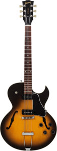 Musical Instruments:Electric Guitars, 1993 Gibson ES-135 Sunburst Semi-Hollow Body Electric Guitar,Serial # 94003855, Weight: 7 lbs....