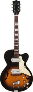 Musical Instruments:Electric Guitars, Circa 1964 Kay Swingmaster Sunburst Archtop Electric Guitar,Weight: 6.4 lbs....