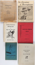 Books:Reference & Bibliography, [Edgar Rice Burroughs]. Group of Six Bibliographies. New York andelsewhere: 1956-[1964]. Five first editions, one complete ...(Total: 6 Items)