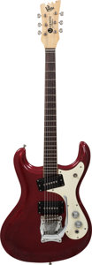 Musical Instruments:Electric Guitars, 1965 Mosrite Ventures Metallic Red Solid Body Electric Guitar,Serial # 3198, Weight 8.4 lbs....
