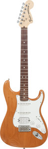 Musical Instruments:Electric Guitars, 2004 Fender Stratocaster Natural Solid Body Electric Guitar, Serial# Z4010553, Weight: 7.4 lbs....