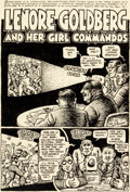 "Original Comic Art:Splash Pages, Robert Crumb Motor City Comics #2 ""Lenore Goldberg and herGirl Commandos"" Title Page Original Art (Rip Off Press,..."