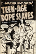 "Original Comic Art:Covers, Marvin Bradley and Frank Edgington Harvey Comics Library #1""Teen-Age Dope Slaves"" Cover Original Art (Harvey, 195..."
