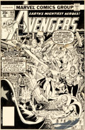 Original Comic Art:Covers, George Perez and Terry Austin Avengers #168 Cover OriginalArt (Marvel, 1978)....