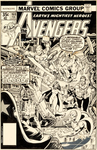 George Perez and Terry Austin Avengers #168 Cover Original Art (Marvel, 1978)