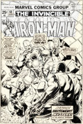Original Comic Art:Covers, Jim Starlin and Klaus Janson Iron Man #68 Cover Original Art (Marvel, 1974)....