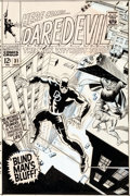 Original Comic Art:Covers, Gene Colan, Frank Giacoia, and John Romita Sr. Daredevil #31 Cover Original Art (Marvel, 1967)....
