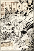 Original Comic Art:Covers, Jack Kirby and Vince Colletta Thor #157 Cover Original Art(Marvel, 1968)....