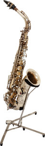 Musical Instruments:Horns & Wind Instruments, 1926 H.N. White King Brass Alto Saxophone, Serial # 81103....