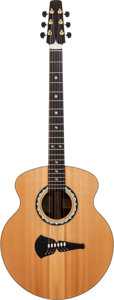 Musical Instruments:Acoustic Guitars, Andy Summer's Owned and Played 1996 Steve Klein S-39-6 Natural Acoustic Guitar, Serial # S 4/046....
