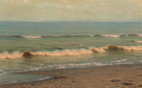 Alexander Harrison (American, 1853-1930) Twilight Surf Oil on canvas 30 x 47-1/2 inches (76.2 x 1