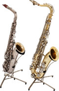 Musical Instruments:Horns & Wind Instruments, C.G. Conn Tenor Saxophone Lot of 2, Serial #s 118382 and 794419....(Total: 2 Items)