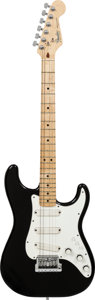 Musical Instruments:Electric Guitars, Circa 1983 Fender Stratocaster Elite Black Solid Body ElectricGuitar, Serial # E318424, Weight: 8.2 lbs....