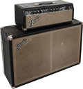 Musical Instruments:Amplifiers, PA, & Effects, 1964 Fender Bassman Black Guitar Amplifier Head and Cabinet, Serial# A01227.... (Total: 2 Items)