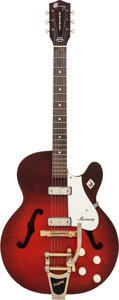 Musical Instruments:Electric Guitars, 1963 Harmony Rocket Redburst Semi-Hollow Body Electric Guitar,Serial # S634....