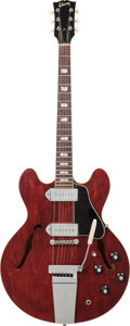 Musical Instruments:Electric Guitars, 1965 Gibson ES-330TD Cherry Semi-Hollow Body Electric Guitar,Serial # 340840, Weight: 8 lbs....