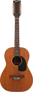 Musical Instruments:Acoustic Guitars, 1968 Gibson B-25-12N Natural 12 String Acoustic Guitar, Serial #969587....