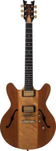 Musical Instruments:Electric Guitars, 1982 Tom Ribbecke 335 Natural Semi-Hollow Body Electric Guitar,Serial # 5, Weight, 8.4 lbs....