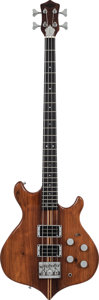 Musical Instruments:Bass Guitars, 1980 Hoyer Session Natural Electric Bass Guitar, Serial # 0039, Weight: 11.2 lbs....