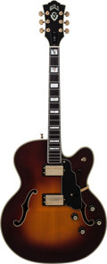 Musical Instruments:Electric Guitars, 1989 Guild X500SB Sunburst Archtop Electric Guitar, Serial #JB100330, Weight: 8.2 lbs....