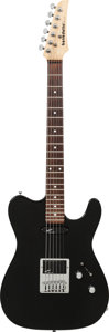 Musical Instruments:Electric Guitars, 1990 Benedetto Black Solid Body Electric Guitar, Serial # 001153,Weight: 7.2 lbs....