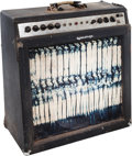 Musical Instruments:Amplifiers, PA, & Effects, 1966 Ampeg Gemini II Navy Blue Guitar Amplifier, Serial # 020987....