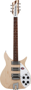 Musical Instruments:Electric Guitars, 2013 Rickenbacker 350V63 Mapleglo Semi-Hollow Body Electric Guitar,Serial # 13 14764, Weight: 6.2 lbs....
