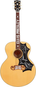 Musical Instruments:Acoustic Guitars, 1998 Gibson Elvis Presley Signature Limited Edition J-200 NaturalAcoustic Guitar, # 176 of 250, Serial # 91108001....