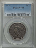 Large Cents: , 1824 1C VF35 PCGS. PCGS Population: (18/98). NGC Census: (10/46). Mintage 1,262,000. ...