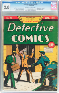 Detective Comics #28 (DC, 1939) CGC GD 2.0 Off-white to white pages