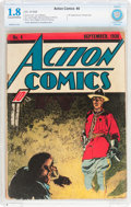 Golden Age (1938-1955):Superhero, Action Comics #4 (DC, 1938) CBCS GD- 1.8 Cream to off-white pages....
