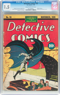 Detective Comics #33 (DC, 1939) CGC FR/GD 1.5 Cream to off-white pages