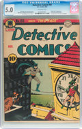 Golden Age (1938-1955):Superhero, Detective Comics #66 (DC, 1942) CGC VG/FN 5.0 Off-white pages....