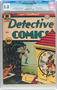 Detective Comics #66 (DC, 1942) CGC VG/FN 5.0 Off-white pages
