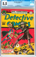 Golden Age (1938-1955):Superhero, Detective Comics #73 (DC, 1943) CGC FN- 5.5 Off-white pages....