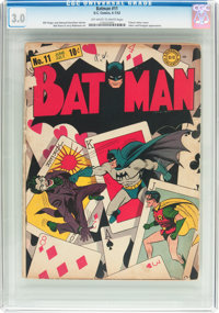 Batman #11 (DC, 1942) CGC GD/VG 3.0 Off-white to white pages