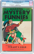 Golden Age (1938-1955):Science Fiction, Amazing Mystery Funnies #1 (Centaur, 1938) CGC VF- 7.5 Off-whitepages....