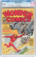 Golden Age (1938-1955):Superhero, Wonder Comics #1 (Fox, 1939) CGC NM 9.4 Off-white to whitepages....