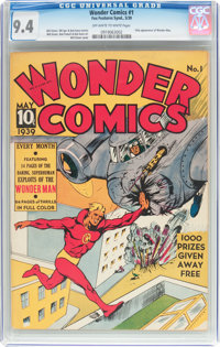 Wonder Comics #1 (Fox, 1939) CGC NM 9.4 Off-white to white pages
