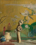 Fine Art - Painting, American:Modern  (1900 1949)  , Hovsep Pushman (American, 1877-1966). Still Life with ChineseStatue. Oil on panel. 22-1/2 x 18-1/2 inches (57.2 x 47.0 ...