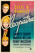"Movie Posters:Drama, Cleopatra (Paramount, 1934). One Sheet (27"" X 41"") Style B.. ..."