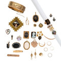 Estate Jewelry:Lots, Victorian Diamond, Multi-Stone, Enamel, Painted Portrait, Freshwater Pearl, Seed Pearl, Gold, Gold-Filled Jewelry. ... (Total: 32 Items)