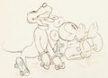 Animation Art:Production Drawing, Society Dog Show Pluto and Mickey Mouse Animation Drawing(Walt Disney, 1939)....